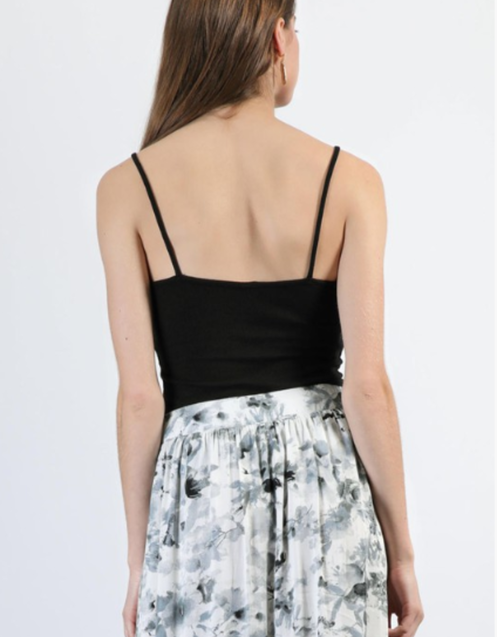 Final Touch fine rib jersey cami top