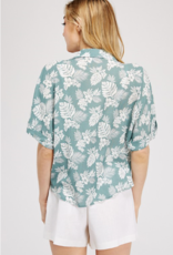 Must Have floral front tie shirt