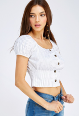 Must Have puff sleeve crop top