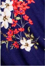 Gilli navy floral skinny leg jumpsuit
