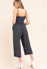 Gilli sleeveless cropped jumpsuit with side tie