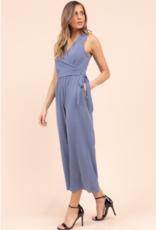 Gilli denim blue cropped  jumpsuit