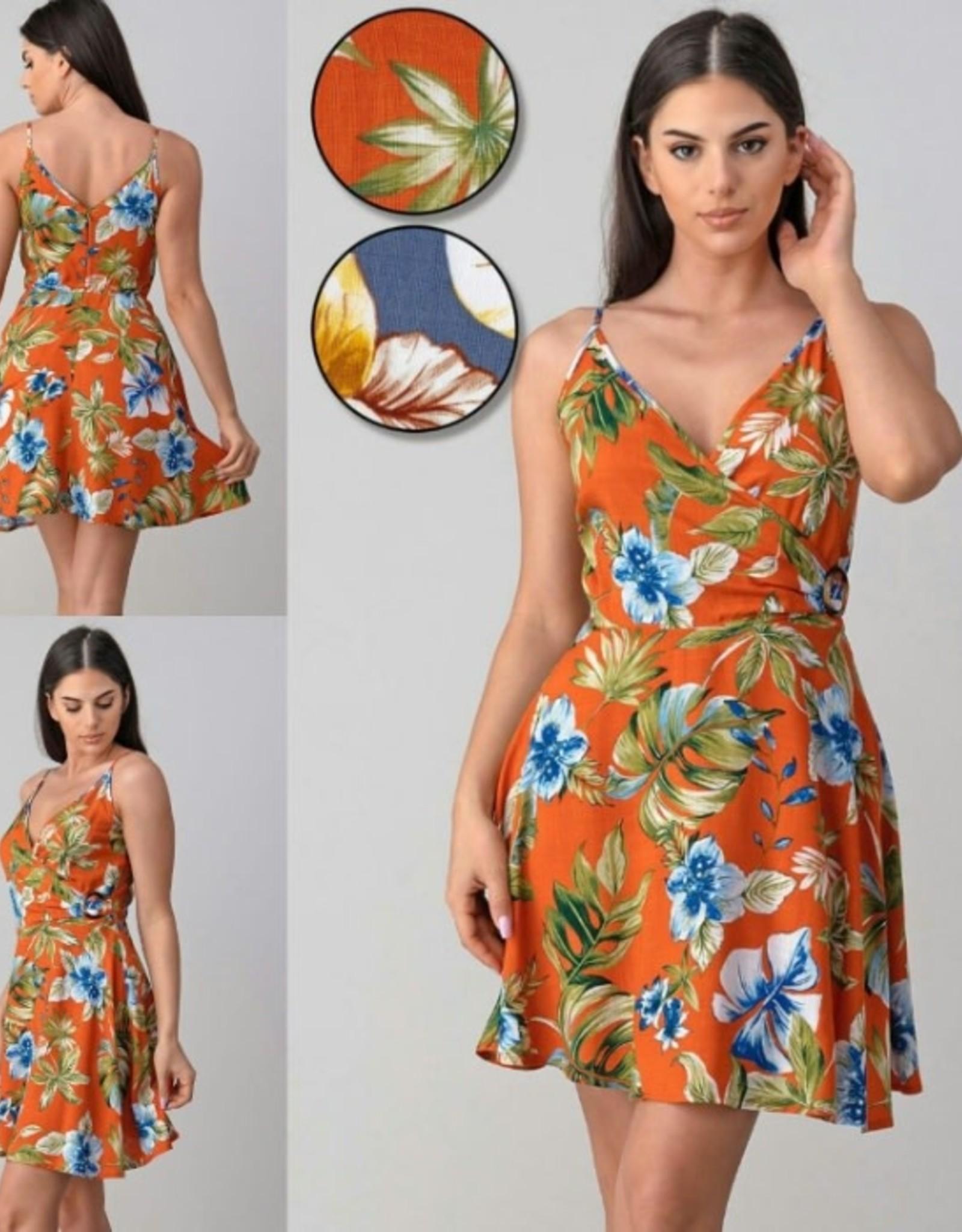 Jacaranda floral print sun dress
