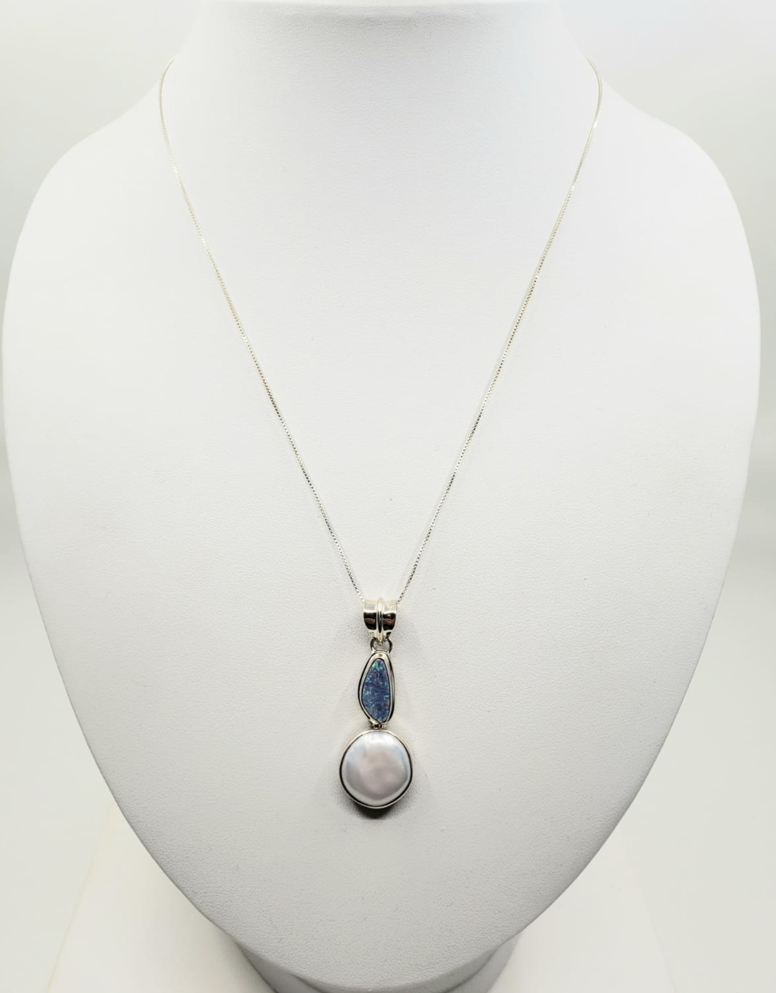 opal and pearl pendant