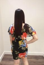 Jacaranda fitted v-neck floral dress