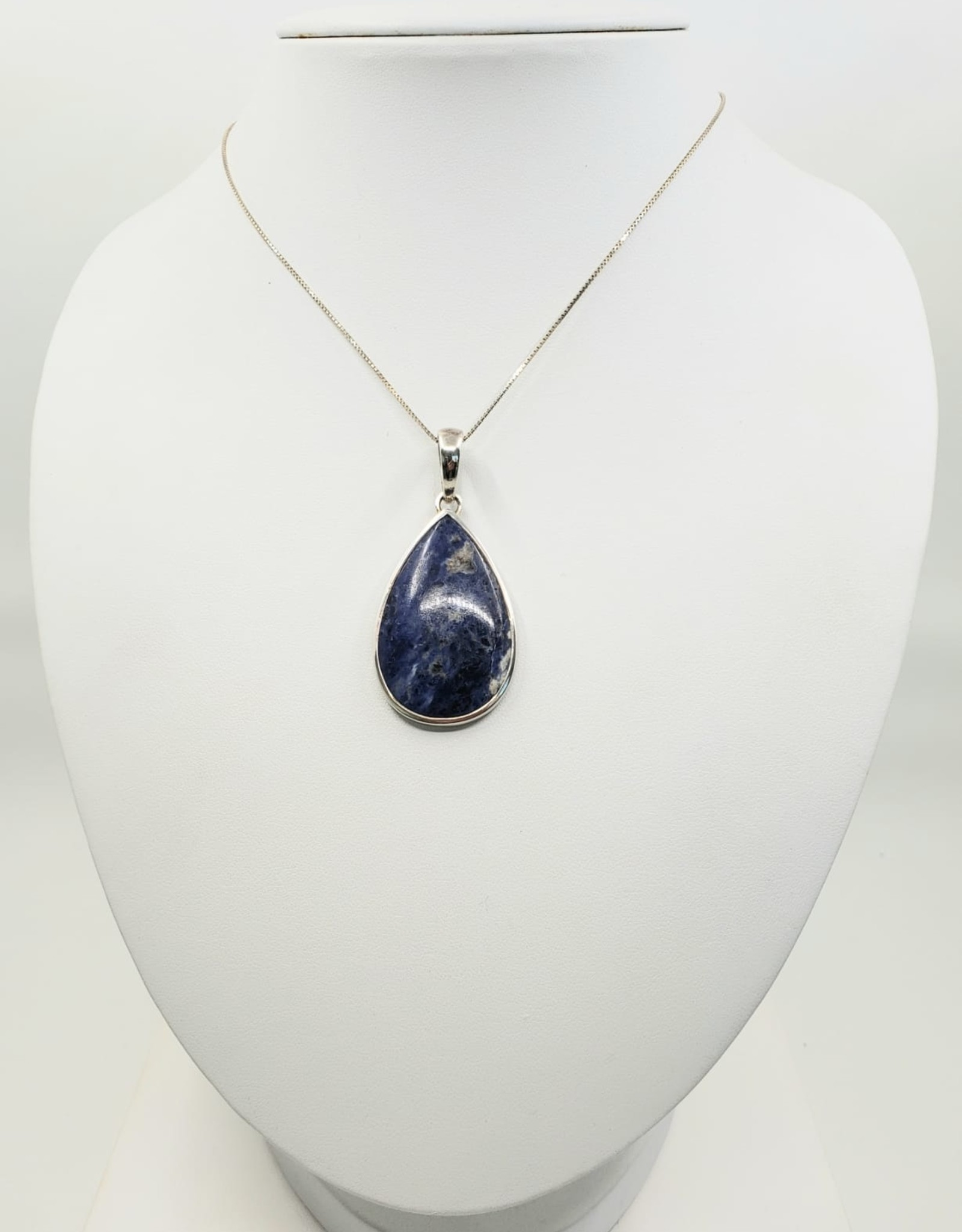 sodalite necklace and chain