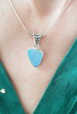 opal pendant with silver chain