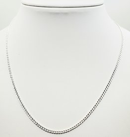 sterling silver curb link chain 18""