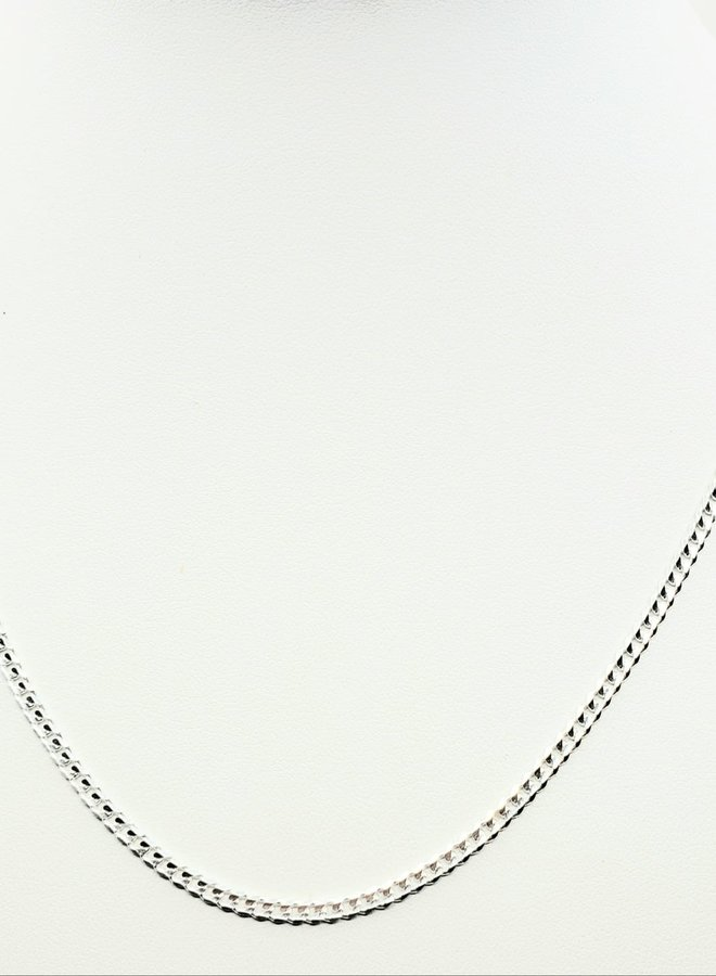 """sterling silver curb link chain 18"""""""