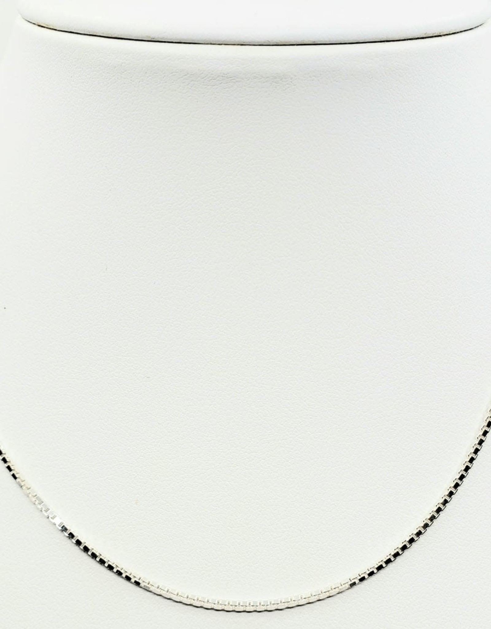 "sterling silver chain 16"" box link"