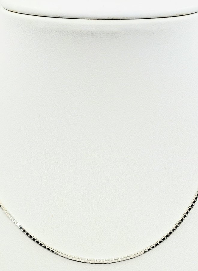 """sterling silver chain 16"""" box link"""