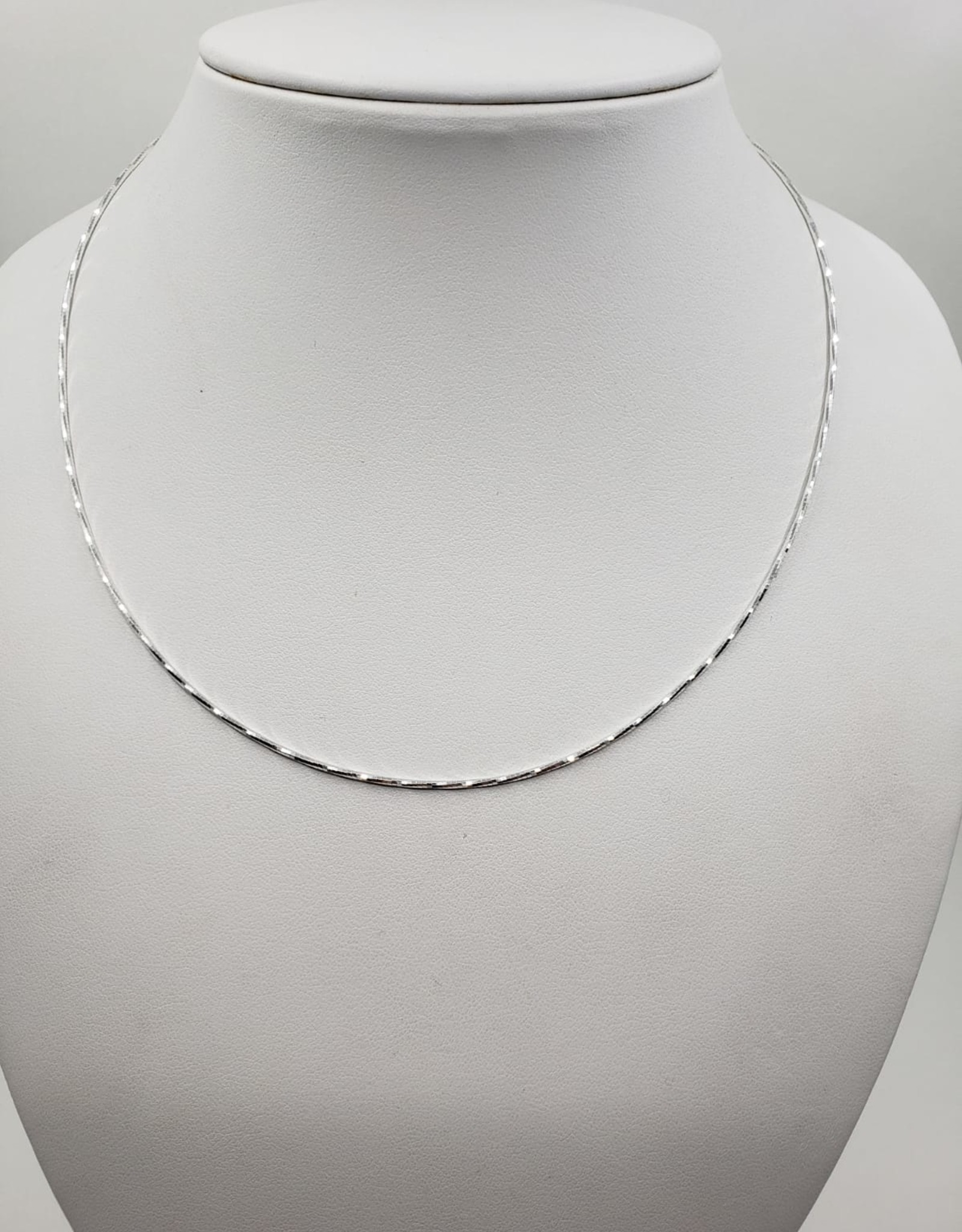 sparkle silver snake chain necklace 16""
