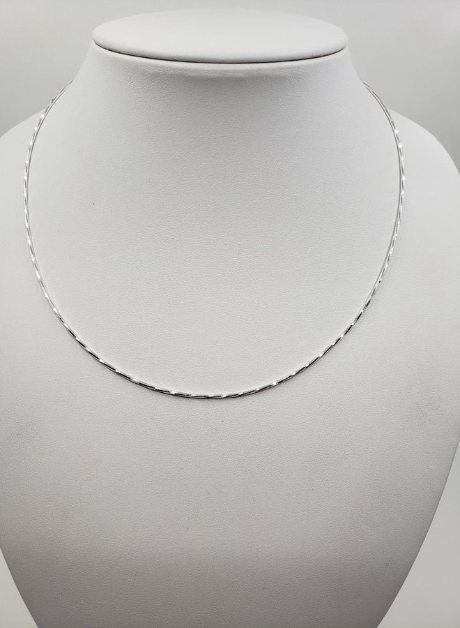 """sparkle silver snake chain necklace 16"""""""