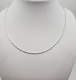 sparkle silver snake chain necklace 18""