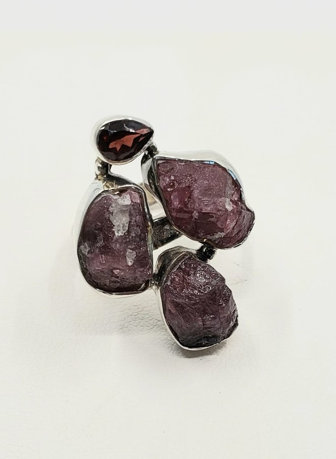 tourmaline and garnet ring size 7
