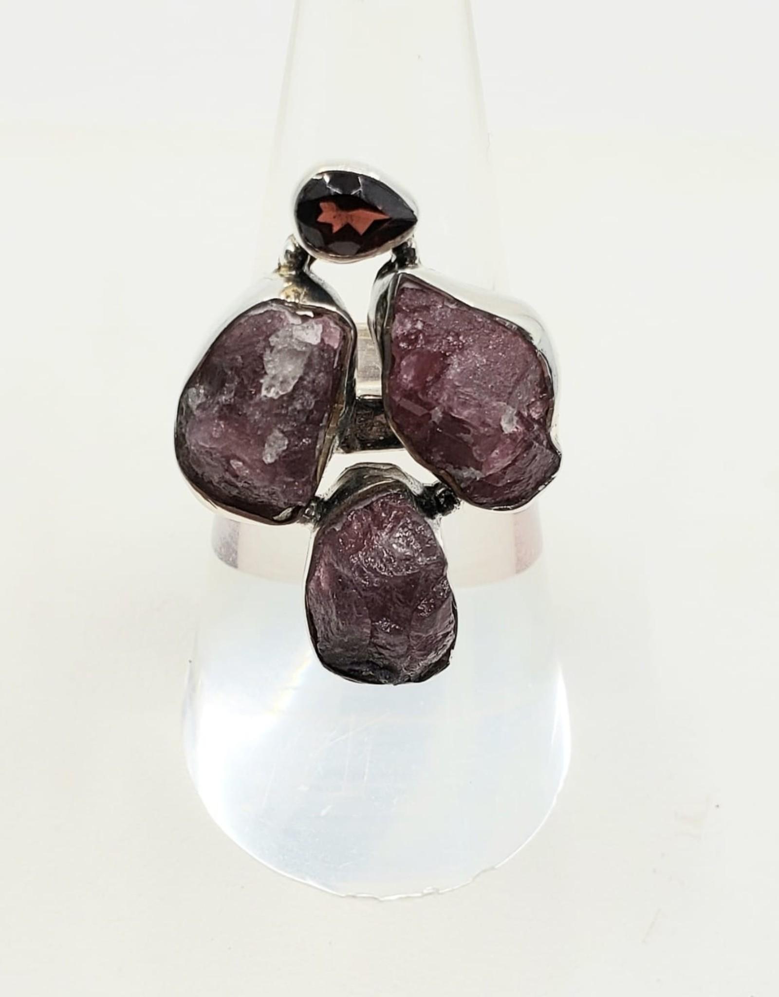 tourmaline and garnet ring size 7