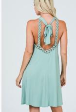 CY Fashion halter neck crochet dress