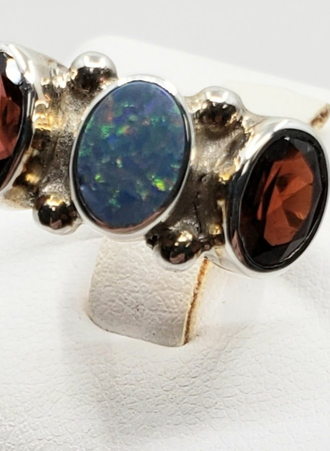 tourmaline and opal ring size 7