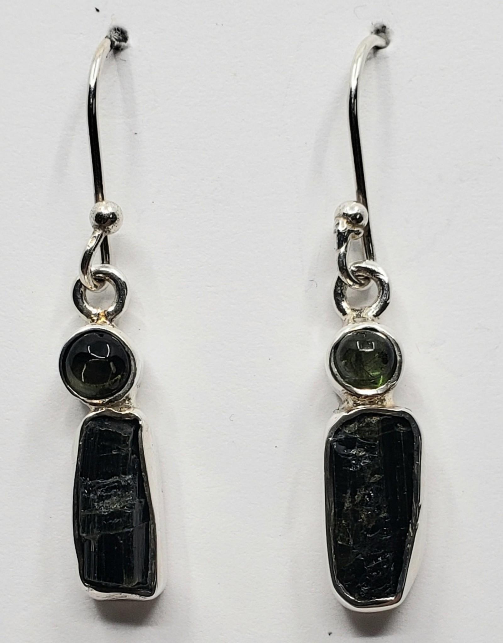 green tourmaline earrings