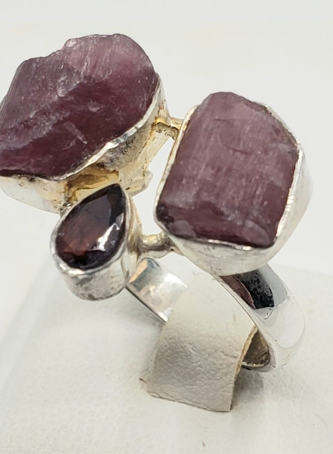 tourmaline and garnet ring size 8