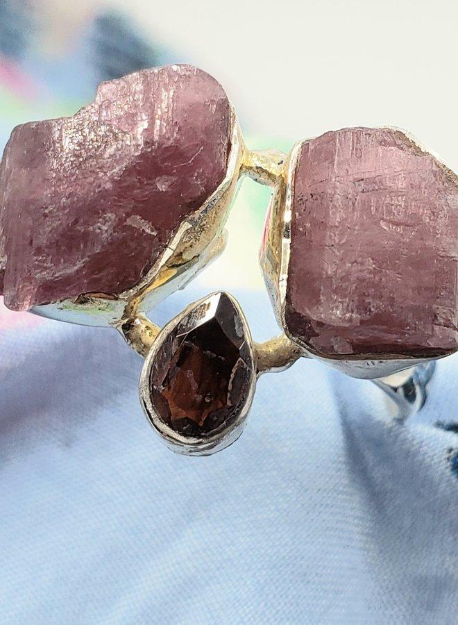 tourmaline and garnet ring size 8
