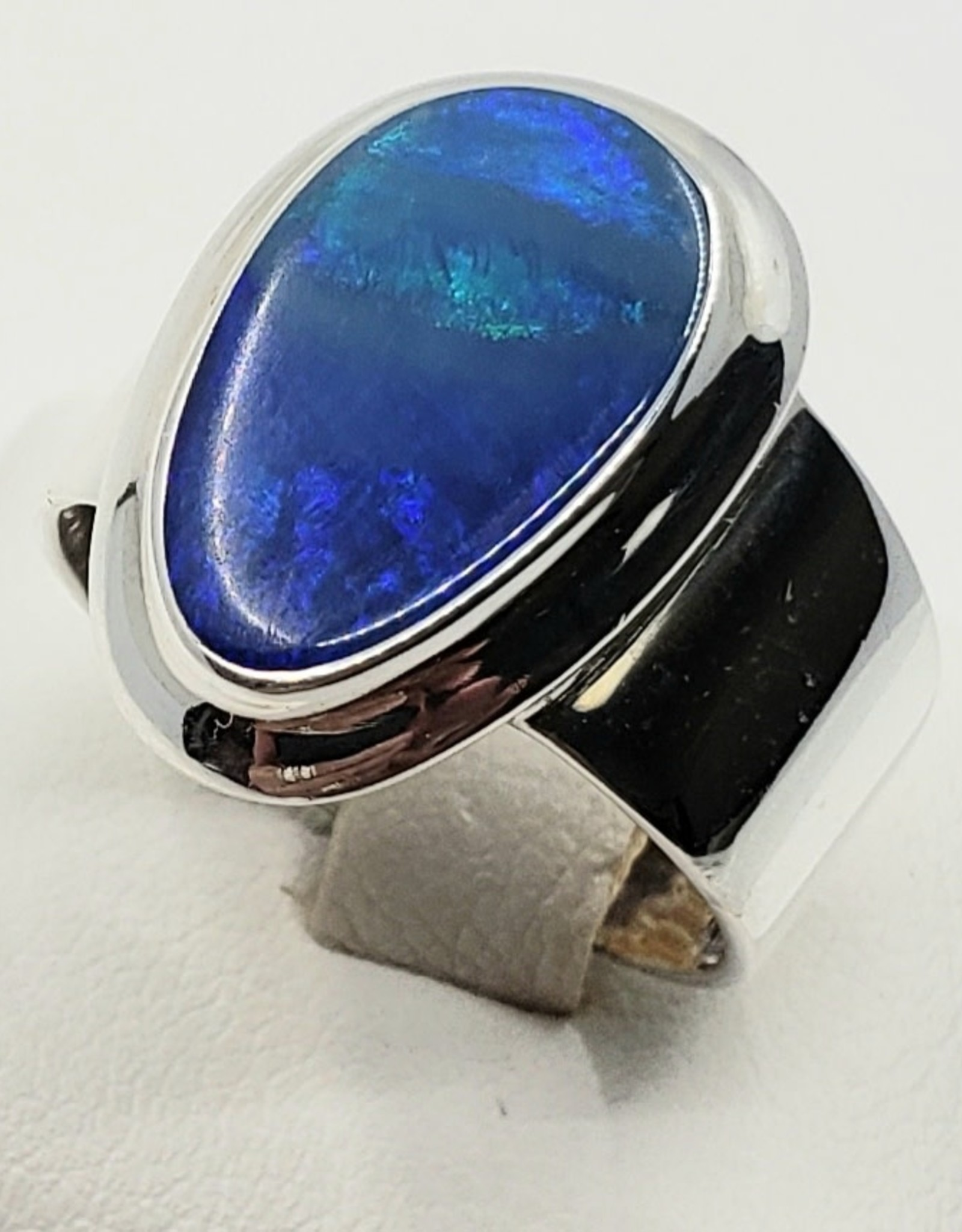 fire blue opal ring size 7