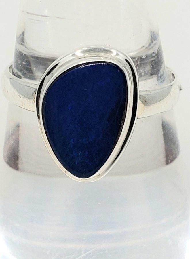 blue fire opal ring size 8