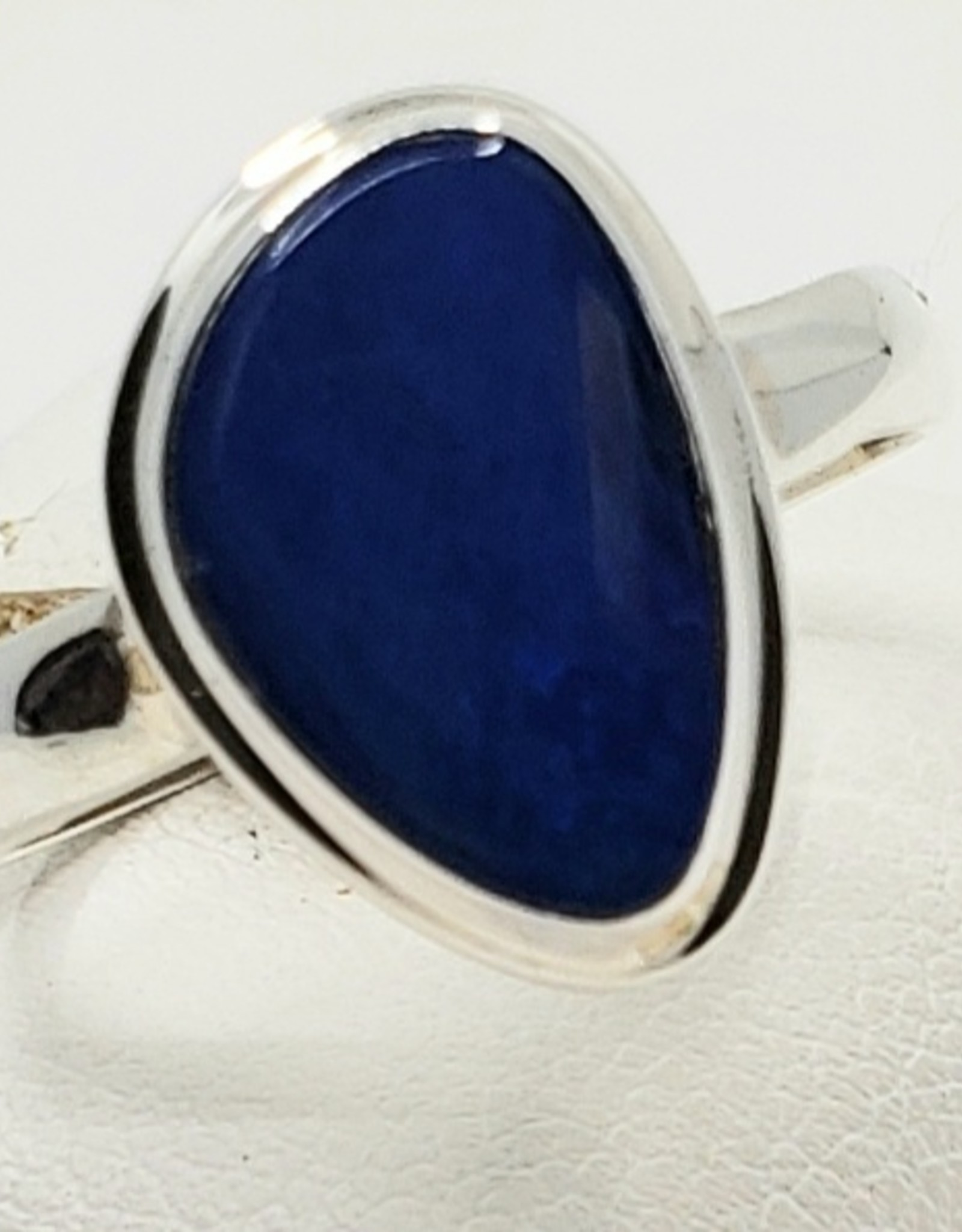 blue fire opal ring size 8
