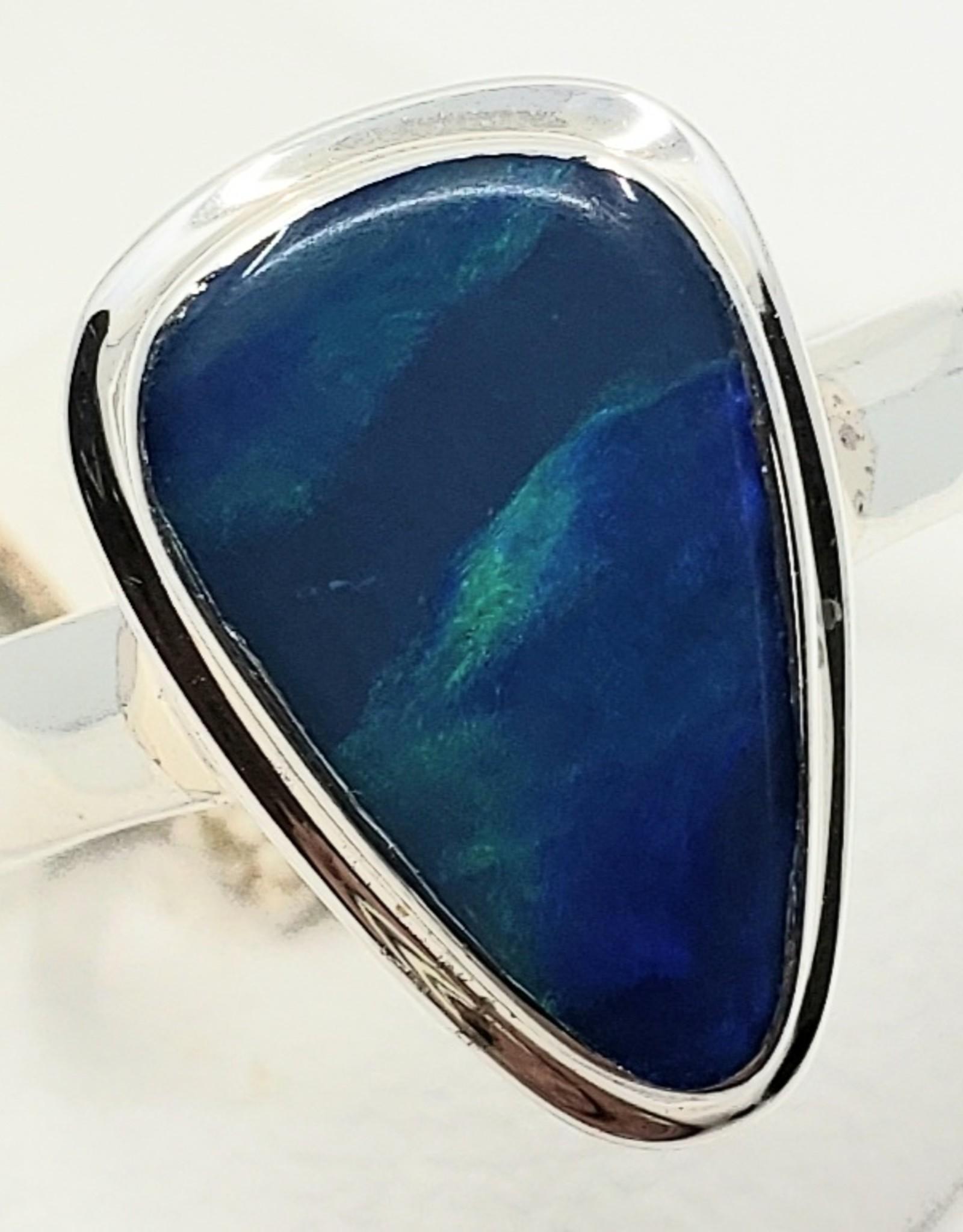 fire blue opal ring size 6.25