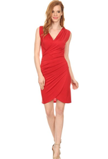 Topping body fit midi length dress