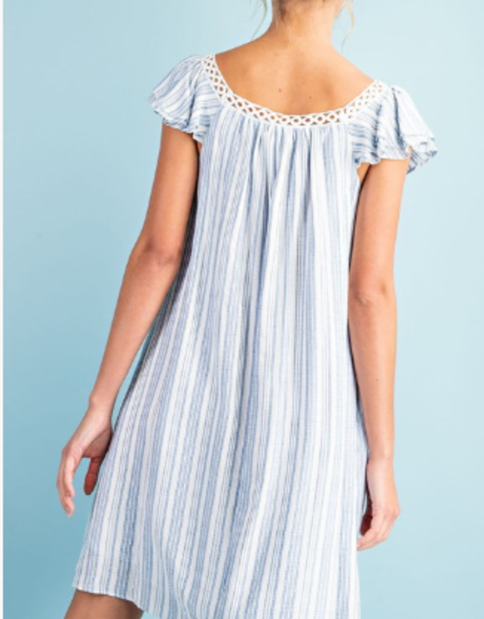 short ruffle sleeve dress