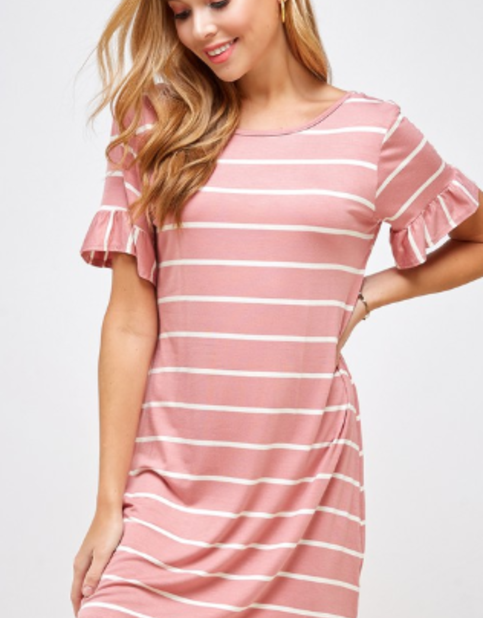 Two Hearts ruffle sleeve dress