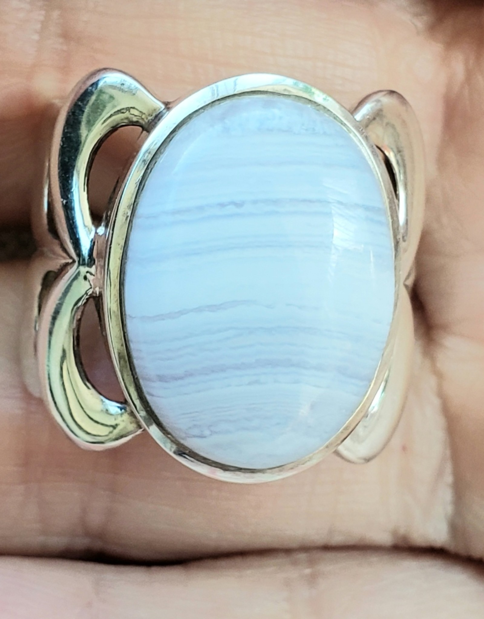 blue lace agate ring size 7.5