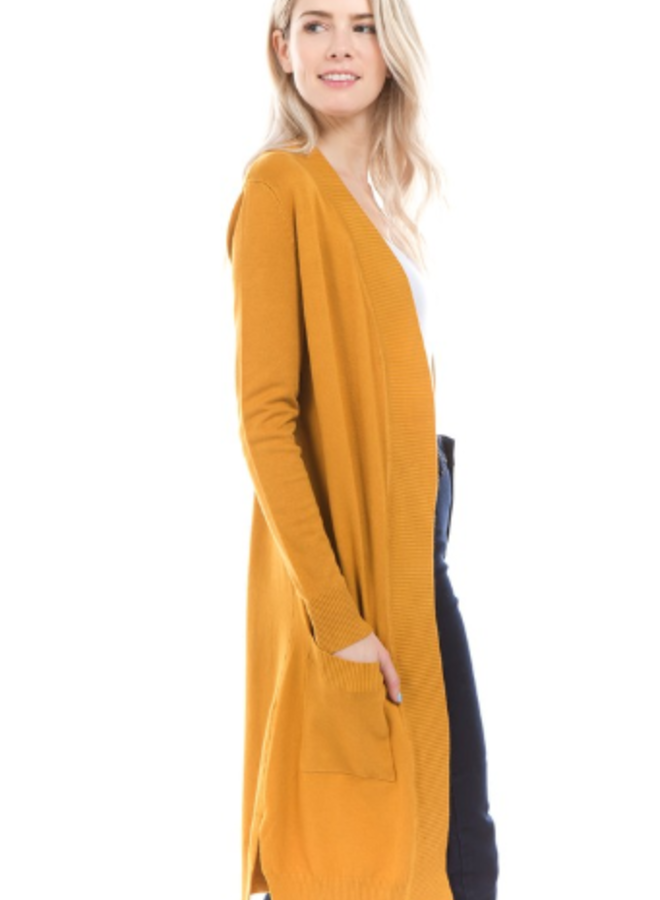 long  cardigan with pockets