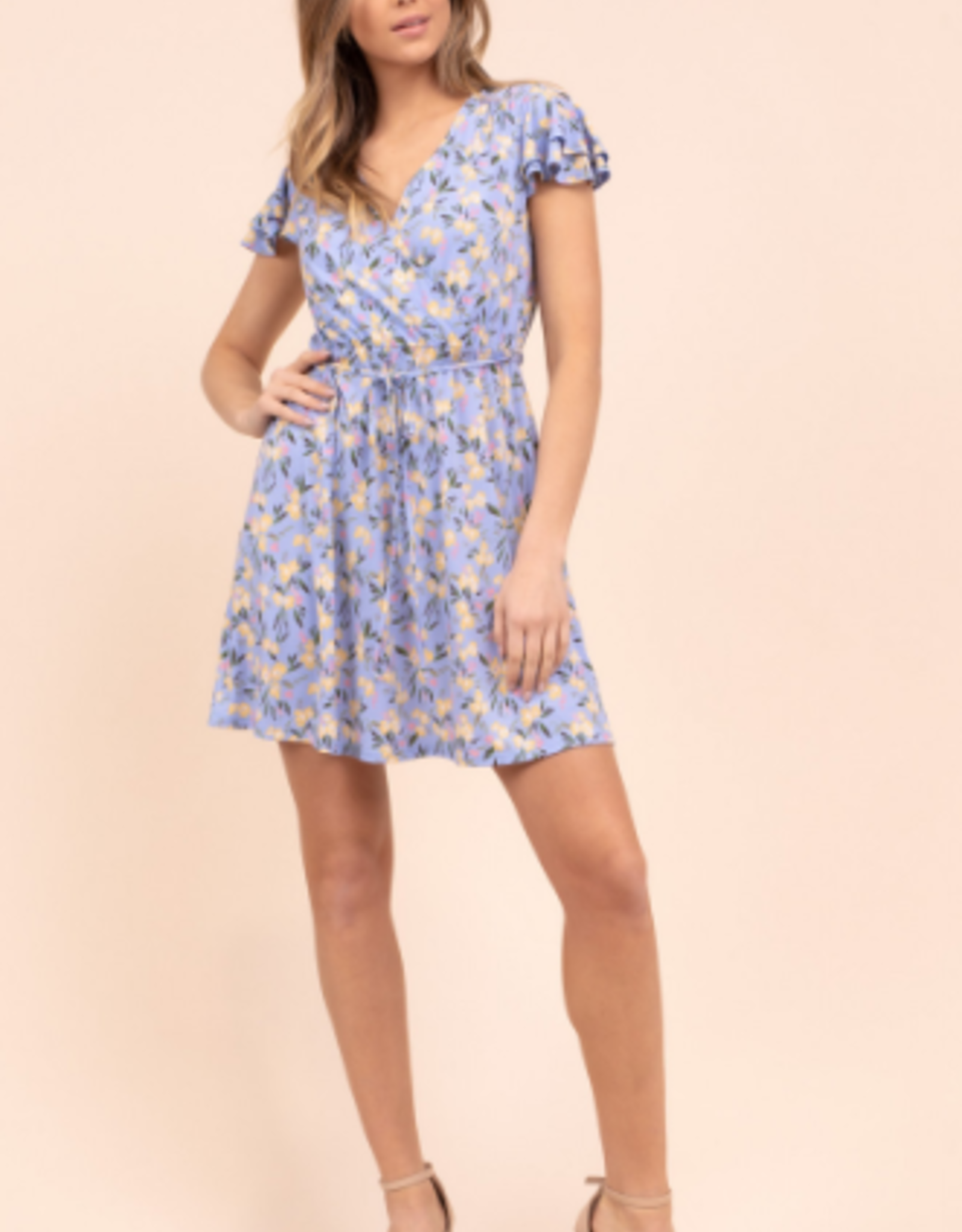 Gilli short sleeve floral print dress