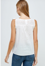 Westmoon cotton eyelet top