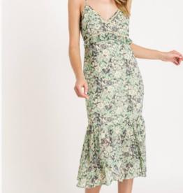 Lush ruffle tiered midi dress