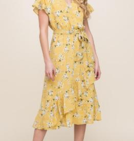 Lush printed wrap dress