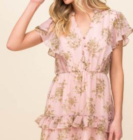 Lush pink ruffle dress