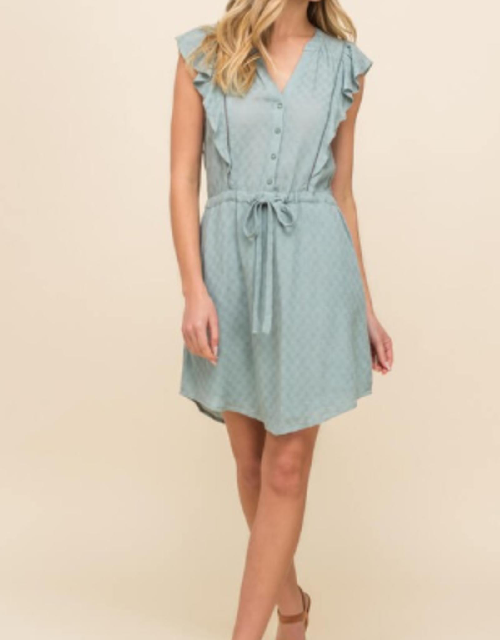 Lush ruffle mini dress