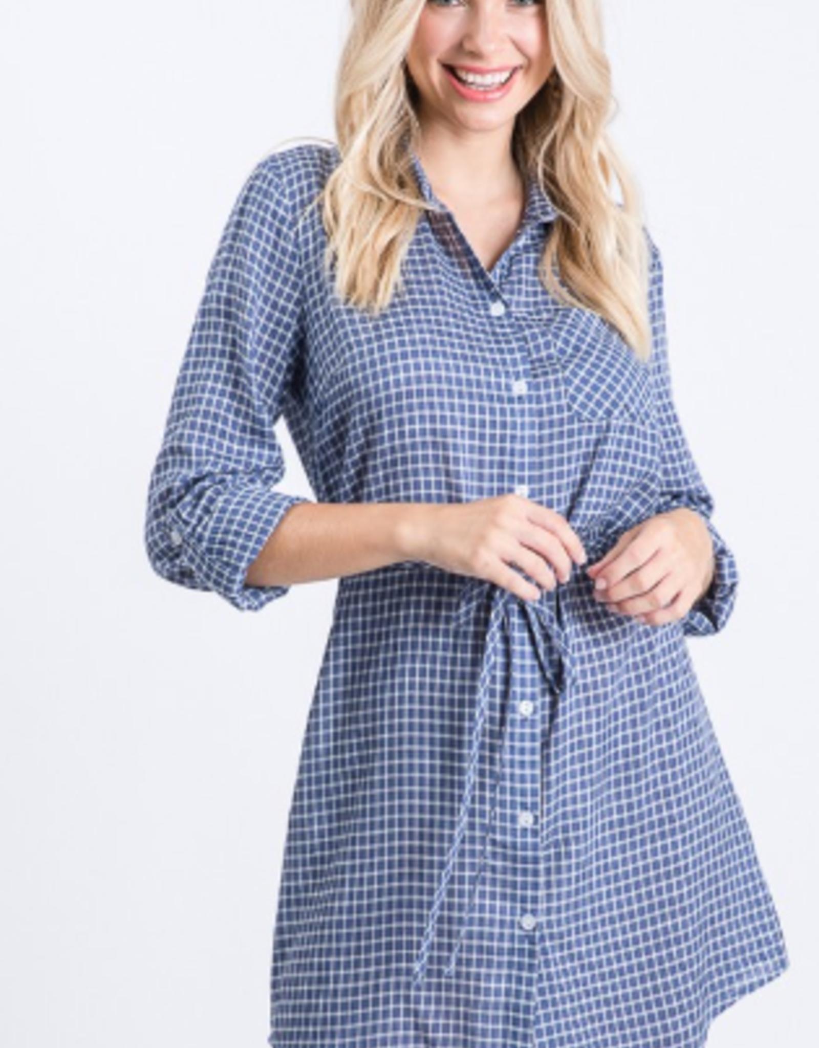 Must Have grid shirt dress