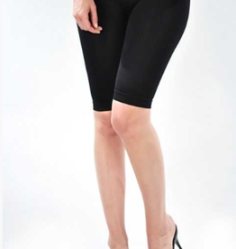 bermuda biking shorts long black