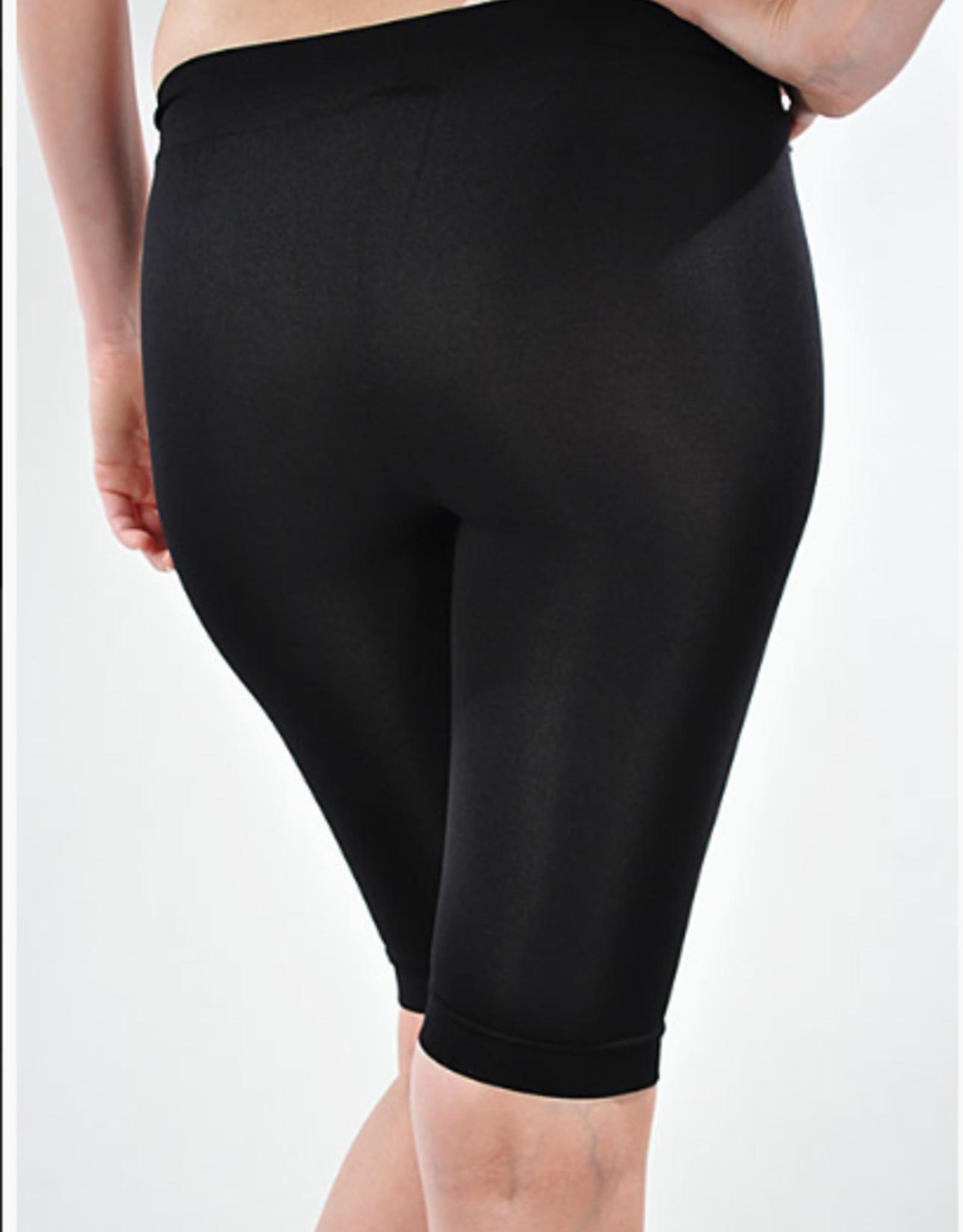 bermuda biking shorts long black