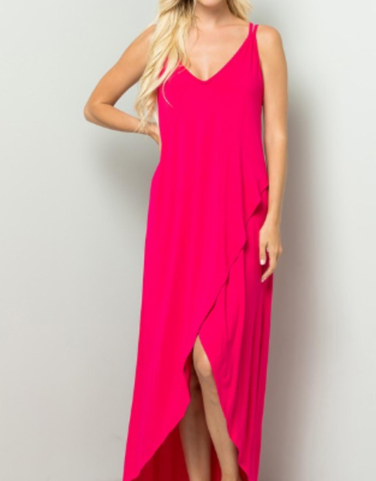 Fuchsia maxi dress