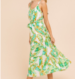 Gilli tropical printed midi dress