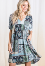 Ces Femme patchwork dress