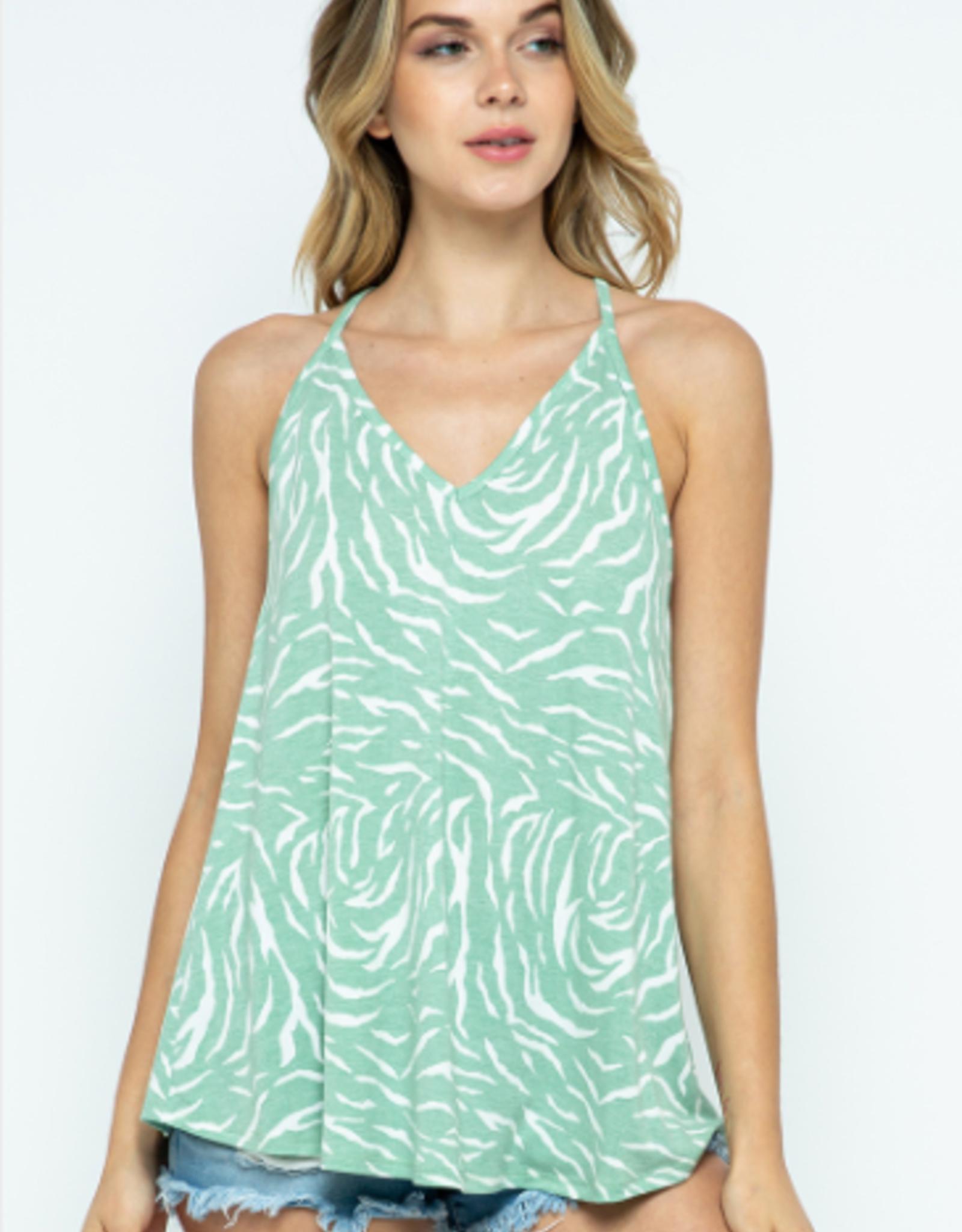 Ces Femme zebra print top