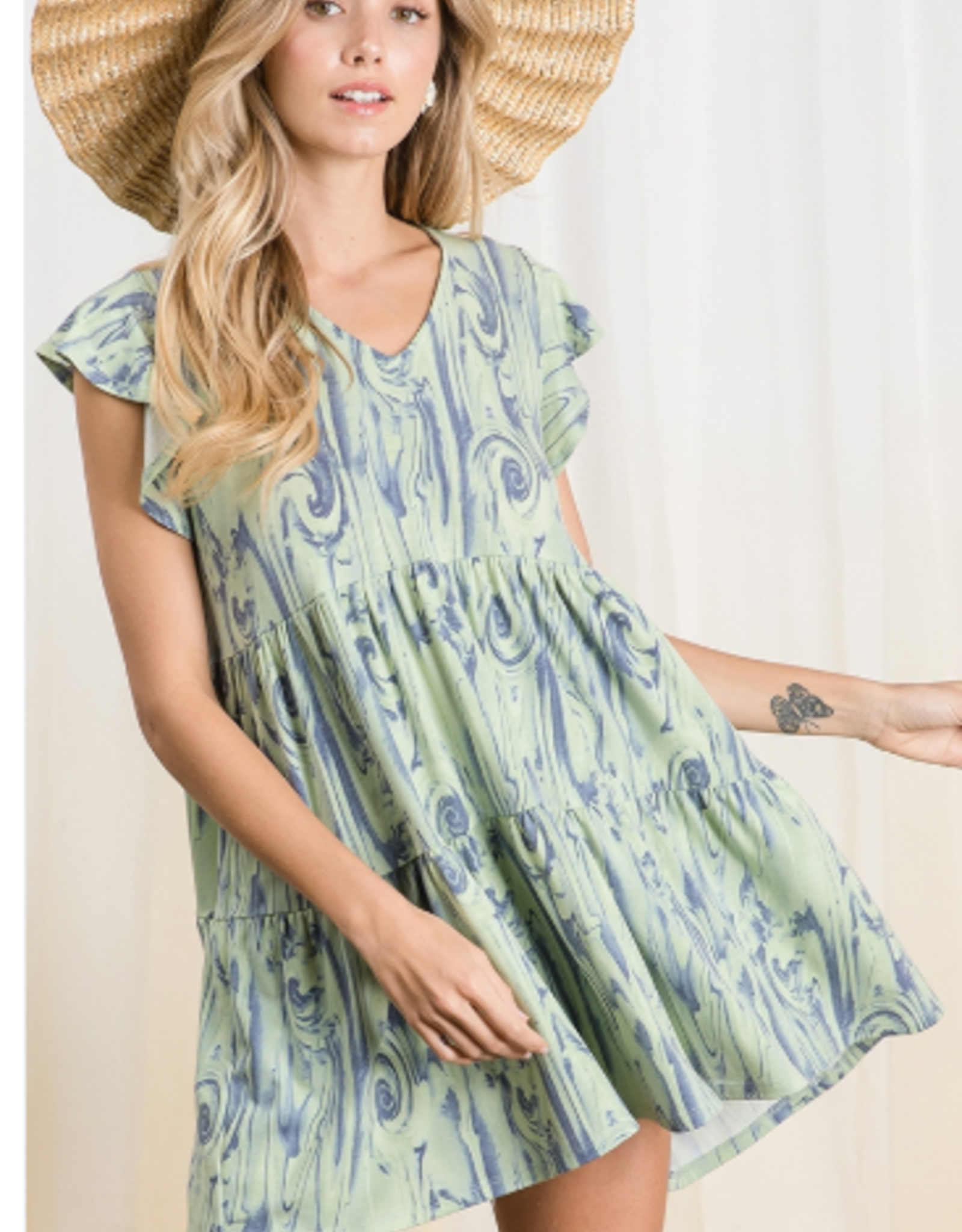 Ces Femme babydoll knit tunic top