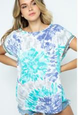 Ces Femme tie dye casual top