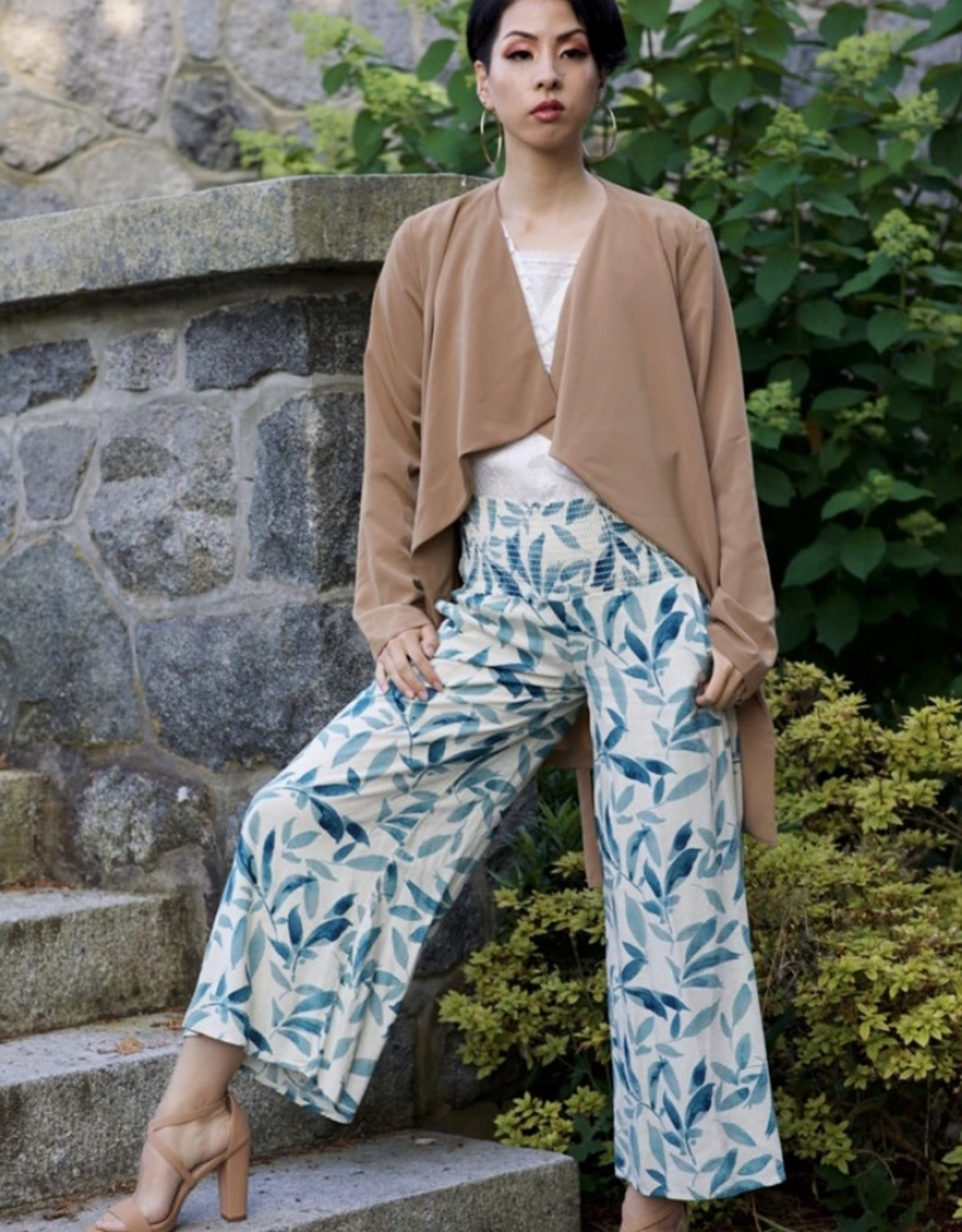 Final Touch wide leg cropped pants
